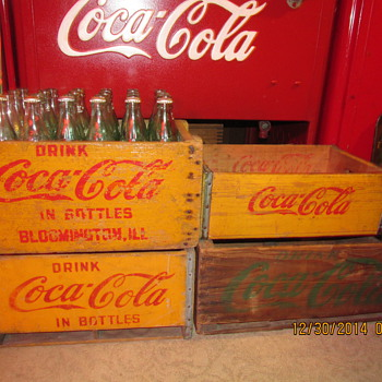 1910s Coca Cola Case Bloomington ILL.  And A Few from  1930s 40s 50s. - Coca-Cola