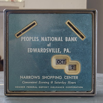 Gerret Calendar Bank...Peoples' National Bank of Edwardsville, PA
