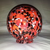 Stunning red/black/white globe