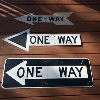 "Old ""ONE WAY"" signs from New York City"