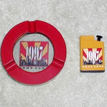 1997 - Hong Kong Ashtray & Lighter Set