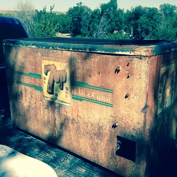 Vintage 7up chest cooler - Advertising