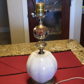 Antique Glass Lamp - Lamps