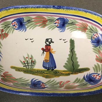 H B Quimper France Bowl - Pottery