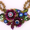 Multi colored centerpiece necklace and earrings