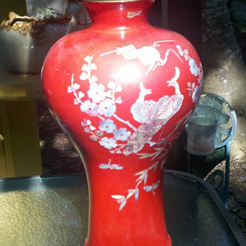 Japanese vase with abalone  - Art Pottery
