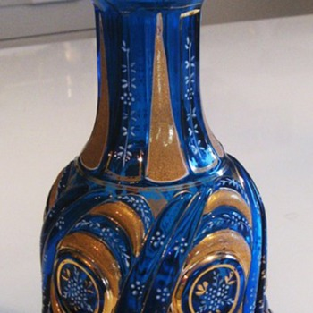 Water Pipe Bottle/Vase for the turkish Market 19Cent Bohemia - Art Glass