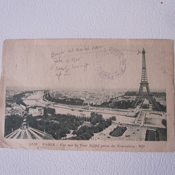 Vintage Eiffel Tower Postcard - Postcards
