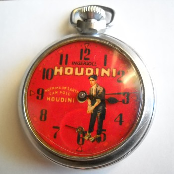 Ingersoll Harry Houdini Pocket Watch that now hopefully works.