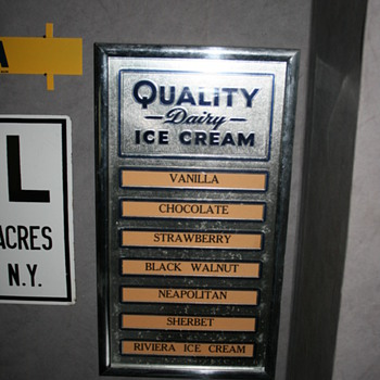 dairy ice cream menu