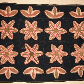 Folk Art Handmade Victorian Rug - Folk Art