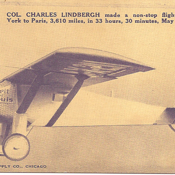 Lindbergh postcard - Postcards