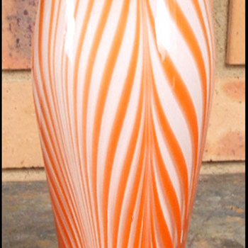 Harrachov Milan Metelak Albatros Vase 1958  - Art Glass