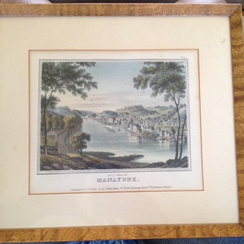 1840's  J.T.Bowen Hand Colored Litho. MANAYUK  PA.
