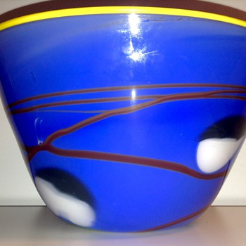 Glass Art Bowl by Steve Nechodom