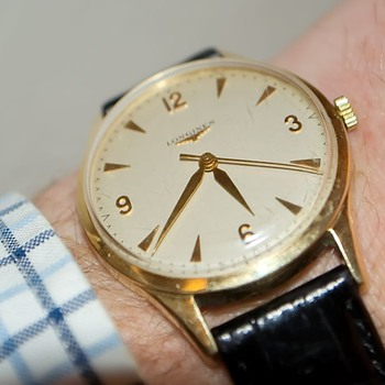 Longines gold watch - Wristwatches