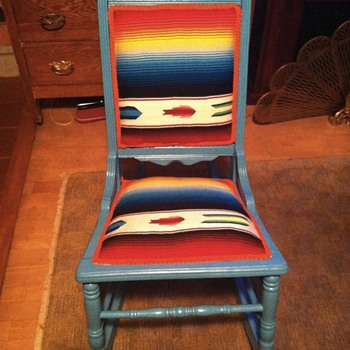 Cane rocker upcycled