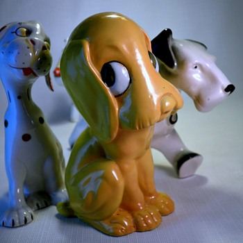 ART DECO GERMAN/CZECH DOG CERAMICS