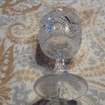 Small sherry cut glass goblet - Glassware