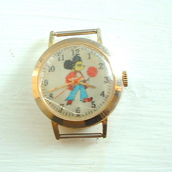 Mickey Mouse Watch Swiss Made LOVE  590 - Wristwatches