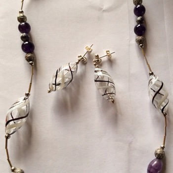 Necklace and earrings - Costume Jewelry