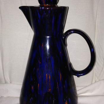 Dark Blue speckled Teapot/Pitcher - Art Pottery