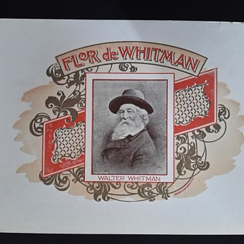Walt Whitman cigar label