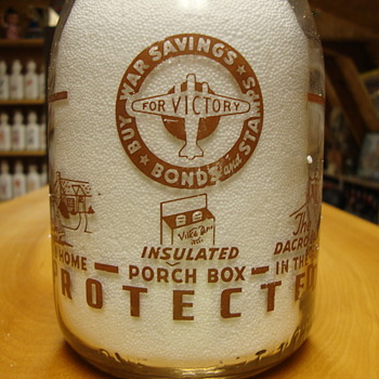Village Farm Dairy Toledo Ohio War Slogan... - Bottles
