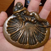 Brass (?) Mermaid Soap/Trinket Dish