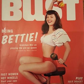 BUST magazine featuring Gretchen Mol  - Paper