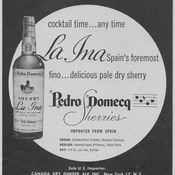 1955 Domecq La Ina Sherry Advertisement - Advertising