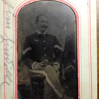 Antique Tin Photograph of a Soldier