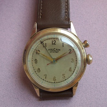 14k Vulcain Cricket Wristwatch  - Wristwatches