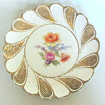 OLD MEISSEN PLATE I FOUND AT A THRIFT STORE FOR 65 CENTS!