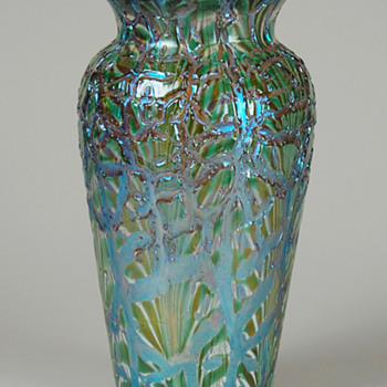RARE DURAND MOORISH CRACKLE VASE