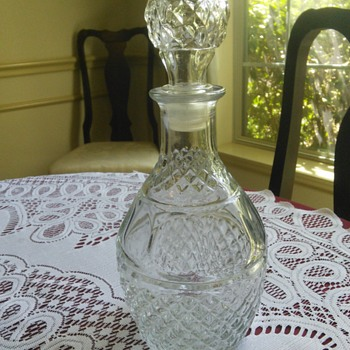 Crown Royal Wine Decanter Diamond Cut Glass