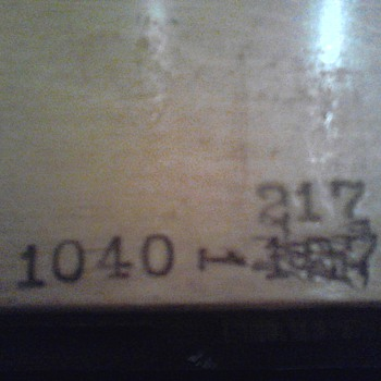 Model Numbers on Antique Bed Frame