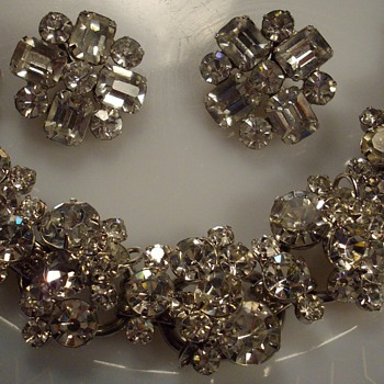 Crystal Rhinestone Juliana Bracelet &amp; Earrings. - Costume Jewelry