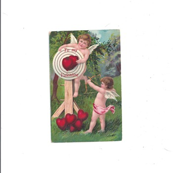 Angels Valentine postcards 1920's-1930's
