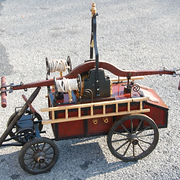 Wooden Old-Style Hook and Ladder Truck