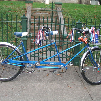 up date picture  of my 1964  schwinn   tandem   bicycle   