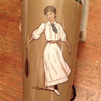 "Dorothea Lambert Chambers ""German"" ceramic tumbler - Art Pottery"