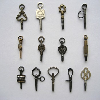 Antique Pocket Watch Keys