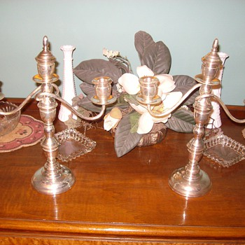 Sterling Candelabra Pair circa late 1940's-early 1950's - Sterling Silver