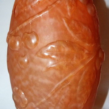 AN UNIDENTIFIED FRENCH MOLDED PRESSED GLASS VASE - Art Glass