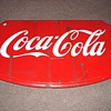 Coca Cola Metal Shield Sign 36X23