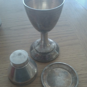 19th century communion set - Sterling Silver