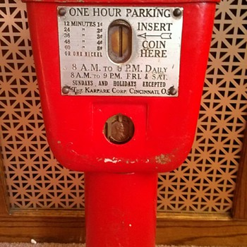 Karpark meter - Coin Operated