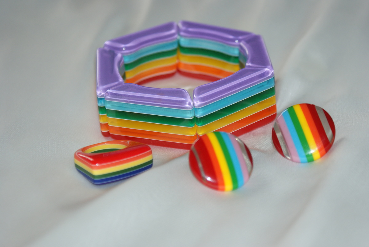 Just for fun rainbow colored jewelry collectors weekly for Jewelry just for fun