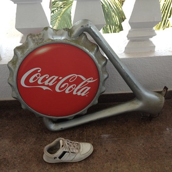coke cola light sign